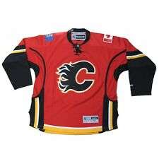 New NHL Reebok Calgary Flames Premier Hockey Jersey Red Small Medium Lace