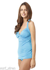 Sia Malaysia Blue Ruched Halter Tankini Cut Out Back RRP $99.95 NOW $39.95