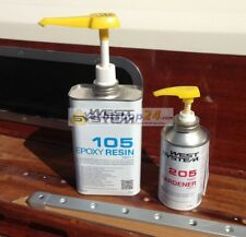 West-System 105-205 A-Pack Epoxy Resin + Pump 301A - 1,2kg EP-Resin Complete Set