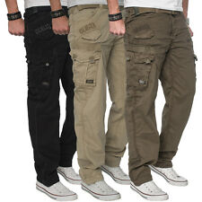 Gangster Unit by Geographical Norway Herren Cargo Hose Freizeit Arm Vintage Hose