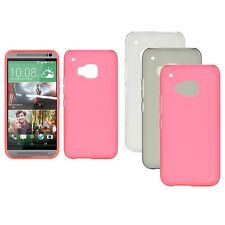 Solid Color Ultra Thin Gel Silicone Rubber Fitted Case Cover Skin For HTC One M9