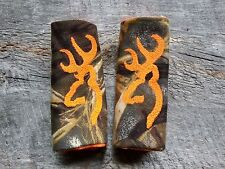 Browning Buck Head Symbol, Max4 Camo and Minky Infant Car Seat Strap Covers