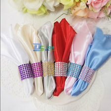 Rhinestone 8 Row Wedding Mesh Bling Napkin Ring Party Holder Table Decorations