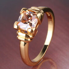 lucid topaz 18k gold filled LADY beauty topaz RING Sz5-Sz9 brand new cool