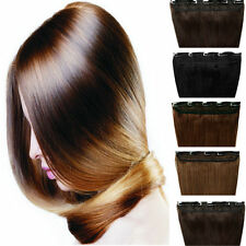 Grade AAA Real Clip In Remy Human Hair Extensions 3/4 Full Head One Piece U229