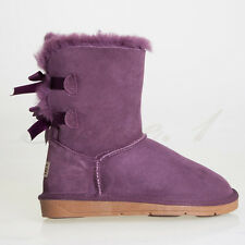 Ever Australia Ugg Boots Unisex/Ladies/Men Au Shepherd Back Bailey Bow 5 Colours