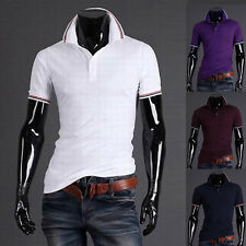 hot Polo /T-Shirt Uomo Slim Fit POLO SHIRTS MAGLIETTA CORTA NUOVA HAUTS XS S M L
