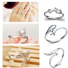 925 Silver Plating Ring Finger Fashion Women Ring Opening Adjustable GIFT Cbus