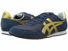 Onitsuka Tiger by Asics Serrano Fashion Shoe Sneaker ,Navy/Gold, MSRP $70.00