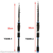 Portable 2.4m/2.7m Carbon Fiber Telescopic Fishing Rod Travel Fishing Pole VS