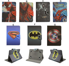 """Universal 7"""" 8"""" 10"""" Universal tablet PC cover case Super Hero cartoon PU leather"""
