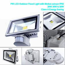GLW LED Floodlight 10W 20W 30W 50W  IP65 PIR Motion Outdoor Garden Security Lamp