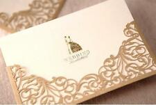 Gorgeous Wedding Invitation Lace Cut Cards Gold Marriage Invitations CWB1016