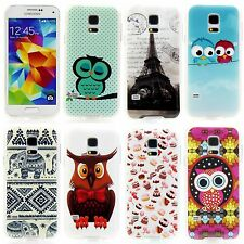 Samsung Galaxy S 5 Mini Silicone Mobile Phone Case Wallet Motif Mix Owl