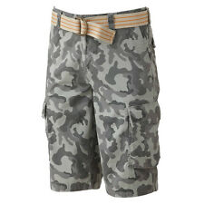 New Urban Pipeline Men's Camouflage Cargo Shorts Light Gray Size 30 MSRP $44