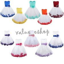 Communion Party Prom Princess Pageant Bridesmaid Wedding Flower Girl Tulle Dress