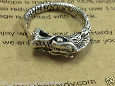 john hardy naga sterling silver dragon ring size 6