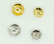 14k Solid White & Yellow Gold Screw Backs Earrings Replacement NEW