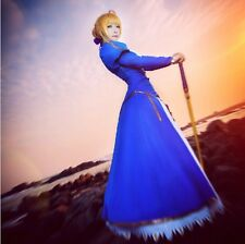 Women Anime Game Fate Stay Night Fate/Zero Fate/stay Saber blue cosplay costume