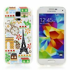 Cases Apple HTC LG Sony Samsung Cover Case Silicone Eiffel tower Flowers