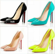 2015 Big Size Women Pumps Sexy Red Bottom Pointed Toe High Heels Shoes 6 Colors