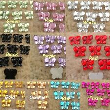 100 2000 Butterfly Acrylic Rhinestone Bead Card Decoration Scrapbooking Craft