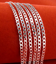 """5pc 925 Sterling Silver Men's """"O"""" Chain Design DIY & Shining Exquisite Necklace"""