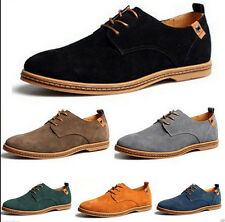 2017 New Mens Casual/Dress Formal Oxfords Flats Shoes Genuine Suede Leather