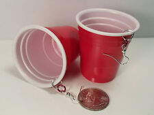 Red Solo Cup Shot Glass Earrings Toby Keith Redneck Rebel Biker Cowgirl Jewelry