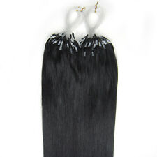 """20"""" Indiano Remy Premier Loop Micro Ring 100% Extension Con Capelli Veri AAA* UK"""