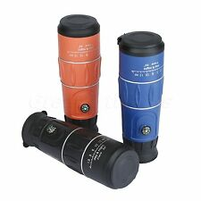 Dual Focus 16 x 52 Zoom Optic Lens Armoring Monocular Telescope Outdoor Scope