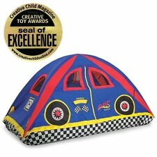 NEW Kids Boys Bed Tent Twin Full Double Size House Race Car Racer Play Stretch