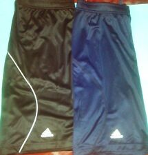 Shorts athletic men Adidas knit light drawstring navy blue or black 9700A  2XL
