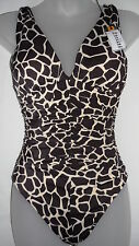 NWT Miraclesuit Womens Sonatina Rock The Croc One Piece Swimsuit Brown