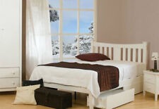 Sweet Dreams Kingfisher White Wooden Bed Frame Solid Wood 150cm King Size 5FT