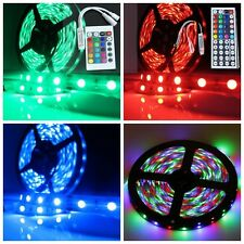 5M Waterproof RGB 300LEDS SMD 3528/5050 LED Strip Light Lamp 12V+24 44 IR Remote