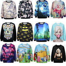 New Women 3D T-shirt Sweater Blouse Sweatshirt Pullover Tops Tracksuit Jumpers