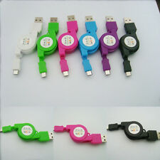 New Retractable Micro USB Data Sync Charger Cable For Samsung HTC Sony Hot