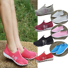 Women Casual Sports Fresh Ventilate Jogging Running Loafers Slip on Tennis Shoes