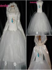 Disney Queen Elsa Dress & Cape Frozen (Inspired) tutu Age 3-12 diamante picture