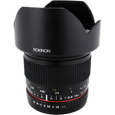 New Rokinon 10mm F2.8 ED AS NCS CS Ultra Wide Angle DSLR Lens with Case