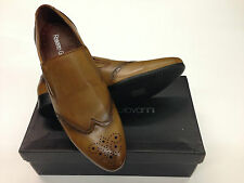 Mens Designer Tan Brogues Shoes Vintage Look