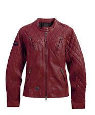 Harley-Davidson Women's Red Quilted Leather Jacket 97039-15VW