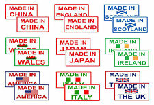 """Made in"" Themed Country Motorbike STICKERS 60mm x 30mm *** Buy 2 get 1 FREE"