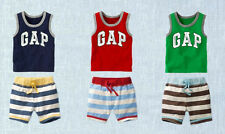 Hot Cartoon Baby Kids Boy Cool Pirate Clothes Tees T-shirt & Pants Outfits 1~6Y