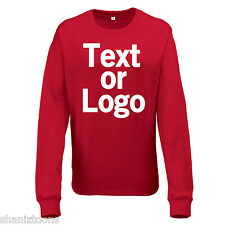 Ladies Womens Sweatshirt Red and Heather Grey Personalised Text Logo