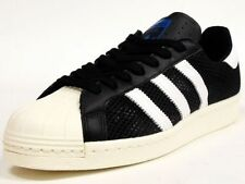 New Adidas Mens Originals Superstar 80s Summer Mesh White Black Sz 13 Q20309