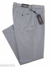 Mens Polo Ralph Lauren CLASSIC FIT Chino Stonewashed Twill Blue Pants Flat Front