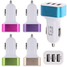 3 USB Universal Car Charger Adapter 3 Port 1A 2.1A 1A For Ipod iPhone Samsung US