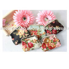 Fashion Lady Women Girl Small Coin Purses Wallet flower cloth Bag New Gift AAA
